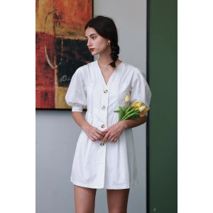 Whizz30% off $149Summer Tulip Button-Front Shirt Dress