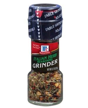 McCormick Italian Herb Seasoning Grinders, 0.77 oz - Walmart.com