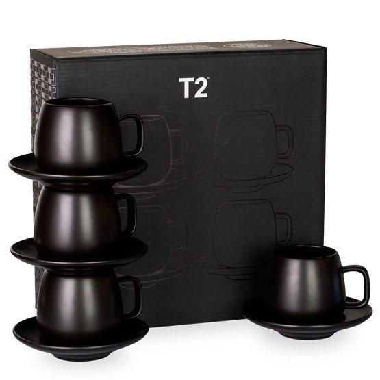 纯黑茶杯套装4件套 - T2 APAC |AU