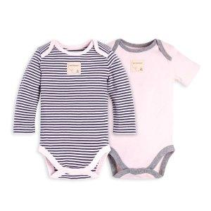 Burt's Bees BabySet of 2 Classic Stripe Organic Baby Bodysuits