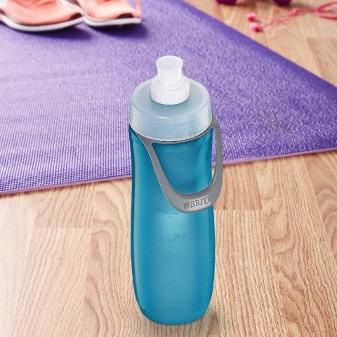 BPA Freee Brita 20 Ounce Sport Water Bottle with Filter Lilac