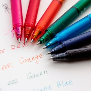 $8Pilot FriXion Clicker Retractable Erasable Gel Pens, Fine Point, Assorted Color Inks, 7-Pack