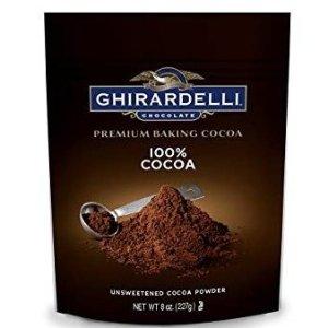 $3.78 下午茶必备Ghirardelli 无糖可可粉小袋 8盎司