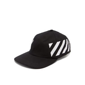 Off-WhiteStripe-print cotton cap