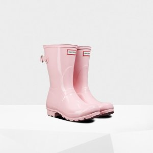 HunterWomen's Original Short Back Adjustable Gloss Rain Boots by Hunter