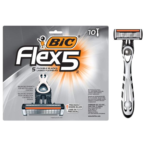 Flex 5男士一次性剃须刀 10个