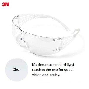 防病毒飞溅3M™ SecureFit™ 专业护目镜20个