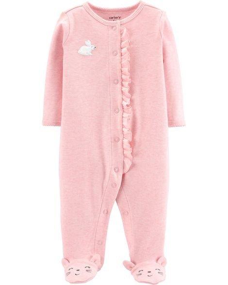 婴儿小兔包脚连体衣