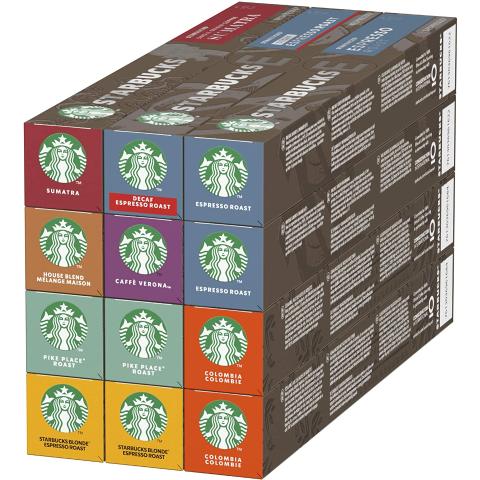 80颗€25.9 120颗€39.96Starbucks X Nespresso 胶囊咖啡热卖 每天一杯元气满满