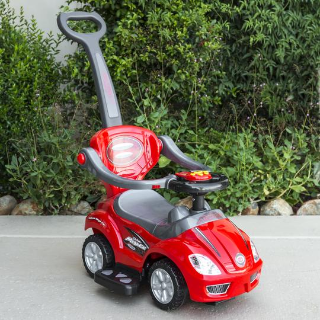 3-in-1 Kids Push Car w/ Handle and Horn