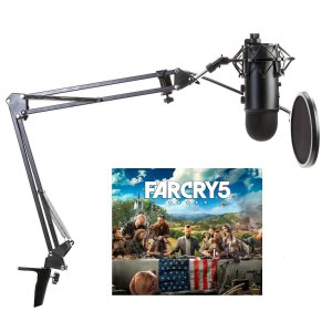 $94.99Blue Yeti Microphone Far Cry 5 Bundle w/ Studio Stand,Shock Mount and Pop Filter