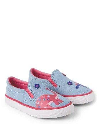 女童刺绣小布鞋