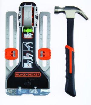 BLACK+DECKER BDMITHWM MarkIT Picture Hanging Kit with Hammer