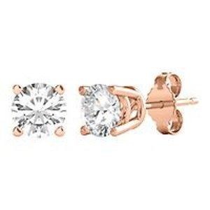 Helzberg Diamond1/2 ct. tw. Diamond Stud Earrings in 14K Rose Gold