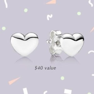 满$125赠封面耳环+免邮 折扣区也参加最后一天:PANDORA Jewelry 串珠,耳钉,戒指满赠优惠