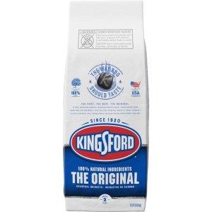 买一送一 $7.78收2袋16磅Kingsford 烧烤用煤炭 8磅 多款可选