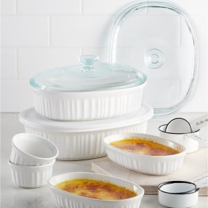 $17.99 Corningware French White 10-Pc. Bakeware Set