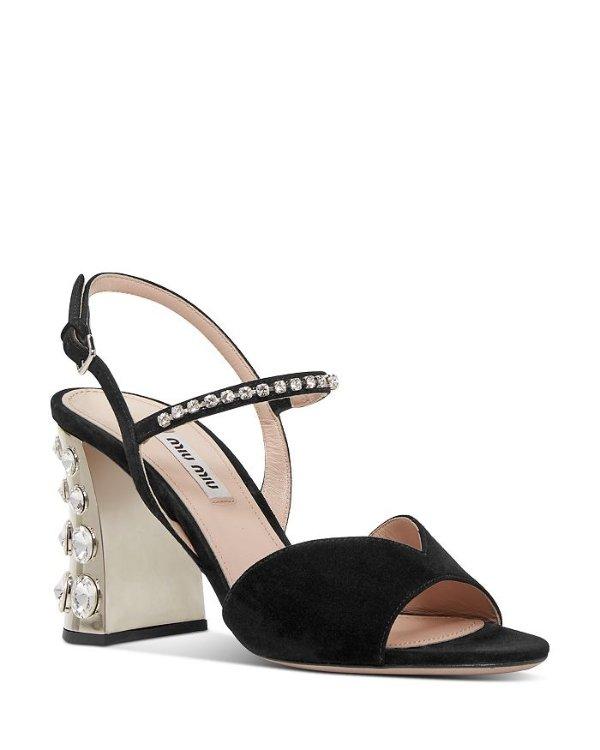 Women's Crystal-Embellished 高跟鞋