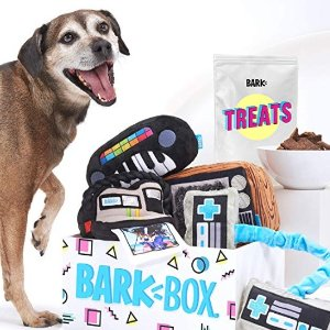 $25.20(原价$36.00)BarkBox 狗狗神秘礼盒 4个玩具+1袋宠物零食