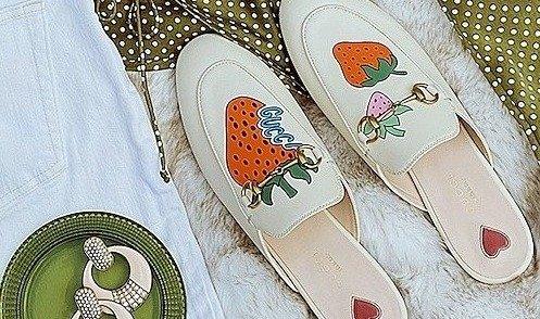 Gucci 美鞋热卖 小草莓穆勒鞋仅$499Gucci 美鞋热卖 小草莓穆勒鞋仅$499
