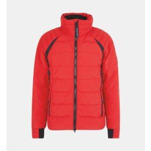 Canada Goose大红色短款羽绒服