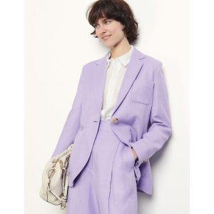 Sandro香芋紫西装外套