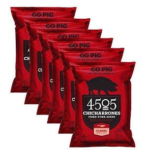 $23.19闪购:4505 Chicharrones 甜辣口味炸猪皮 2.5 oz 6包