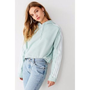 adidas Originals Trefoil Cropped Hoodie Sweatshirt Urban Outfitters