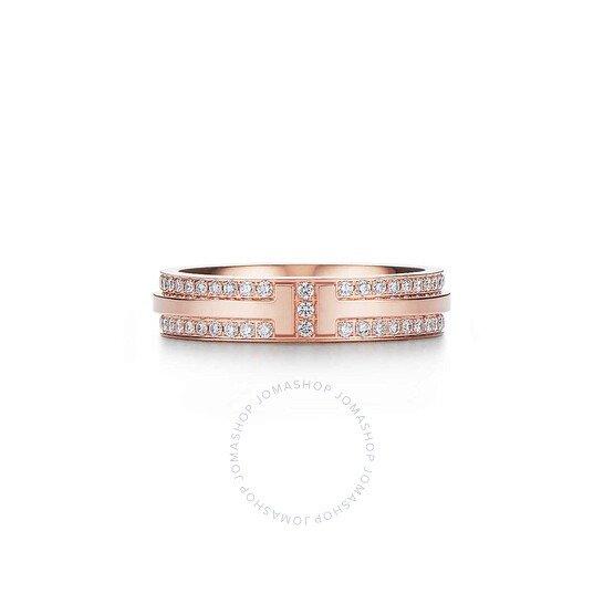 Tiffany 18k 玫瑰金钻石戒指