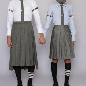 入吴世勋、李易峰、吴亦凡情侣款Thom Browne 春夏新品热卖 经典款针织衫新色