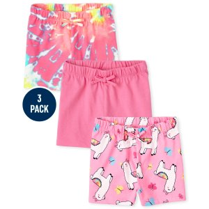 The Children's PlaceToddler Girls Print Knit Shorts 3-Pack
