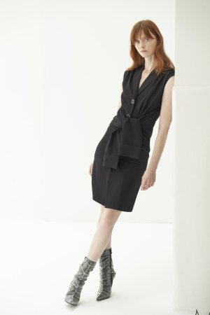 QUAINT ICONIC Alissa Tuxedo Sleeve Dress