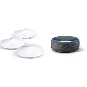 $149.99 (原价$299.99)TP-Link Deco M5 全屋WiFi系统 3个 + Echo Dot 3