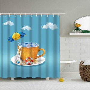 Bathroom Artwork Shower Curtains Amazon