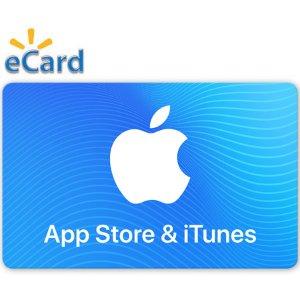 $46.46 (原价$50)$50 App Store & iTunes 礼卡 (Email发送)