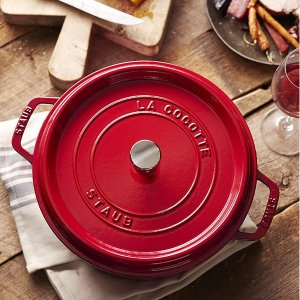 28cm樱桃红 €133.37STAUB 铸铁锅热卖 锁住水分 锁住美味 让你爱上做饭