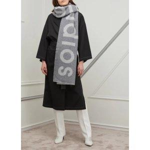 Acne Studios定价$320羊毛混纺Logo围巾