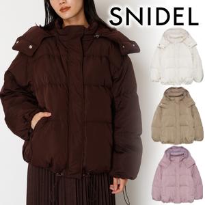 直邮美国到手价$163.32019秋冬新品 SNIDEL 甜美纯色抽绳可拆帽高领羽绒服 特价
