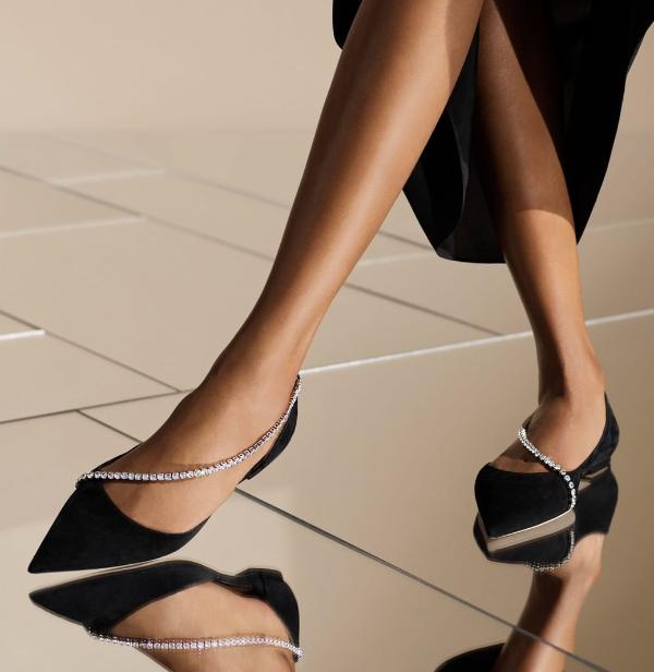 水晶平底鞋