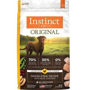 Instinct 无谷物鸡肉配方狗粮22.5磅