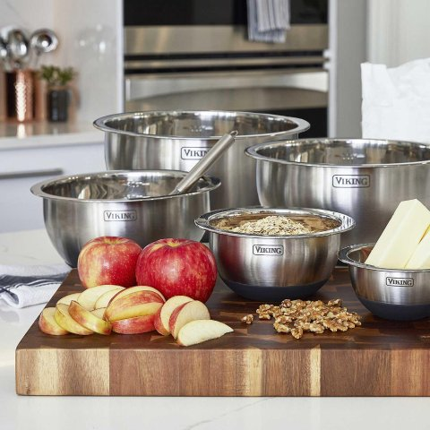 $24.98Viking 10-Piece Stainless Steel Mixing, Prep and Serving Bowl Set