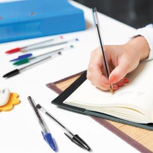 $0.97 (沃尔玛$12.19)BIC 蓝色圆珠笔  办公学习必备 凑单实用小物 10支装