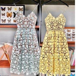 满享8.5折 蓝色上衣€225Self-Portrait 英国典雅仙女裙闪促 宋茜、娜扎、Jennie同款