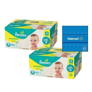 Buy 2, Get $15 Gift Card Pampers Disposable Diapers @ Walmart