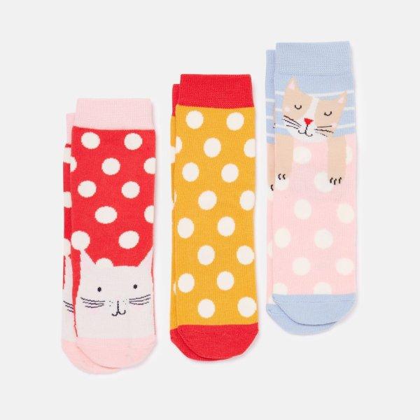 儿童竹纤维袜子3双