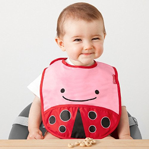 $3.27 凑单佳品!Skip Hop 防水可折叠婴儿围兜 粉嫩瓢虫款