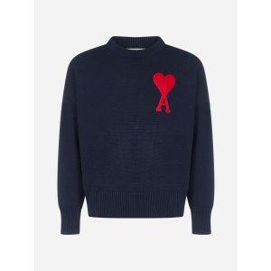 Ami ParisAmi-De-Coeur logo wool oversize sweater