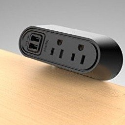 Legrand Desktop Mounted USB Charging and Power Center