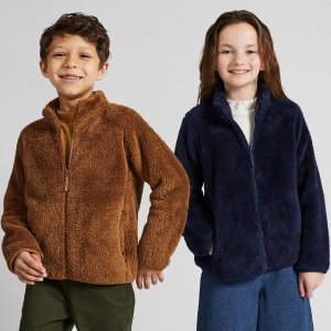 Uniqlo限时优惠儿童绒绒保暖外套,多色选