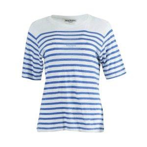 Acne StudiosLinen Blue Stripe T-shirt